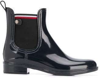Tommy Hilfiger high-shine rainboots