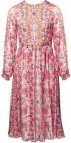 Matthew Williamson White Folkloric Floral Boho Dress