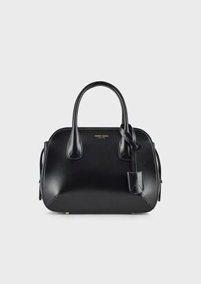 Giorgio Armani Small La Prima Tote Bag In Palmellato Leather