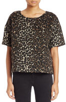 Lord & Taylor Animal-Print Boxy Tee