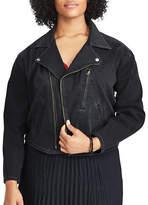 Chaps Plus Denim Moto Jacket