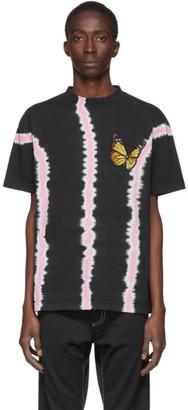 Palm Angels Black Tie-Dye Butterfly T-Shirt