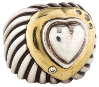 David Yurman Diamond Cable Heart Rings