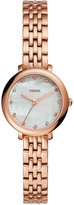 Fossil Women's Jacqueline Rose Gold-Tone Stainless Steel Bracelet Watch 26mm ES4031