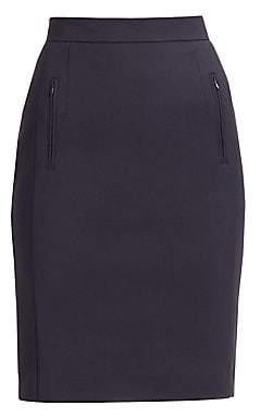 Akris Punto Women's Zip Pocket Pencil Skirt