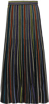 M Missoni Striped lamé crochet-knit maxi skirt