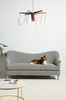 Anthropologie Pied-A-Terre Sofa By in Black Size 83 in