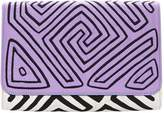 Mola Sasa Maisai Clutch Bag - Purple & Blue