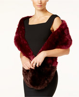 INC International Concepts Colorblocked Faux-Fur Scarf, Only at Macy's