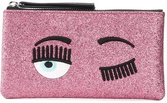 Chiara Ferragni embroidered Wink wallet