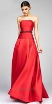 Mac Duggal Beaded Dropped Waist Evening Gown