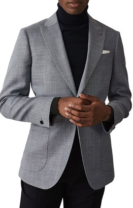 Reiss Archie Peak Collar Single Button Jacket
