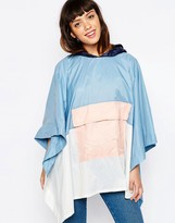 Asos Shower Proof Pastel Color Block Pac Away Trench