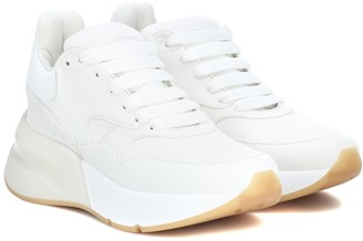 Alexander McQueen Leather and fabric sneakers