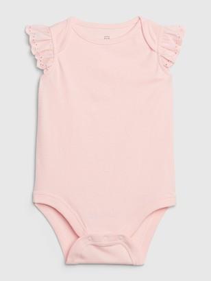 Gap Baby Eyelet Ruffle Bodysuit