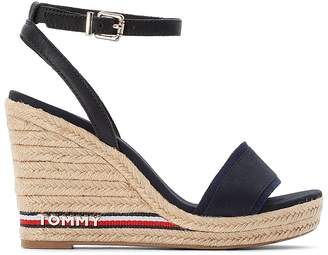 Tommy Hilfiger Elena 78C1 Espadrille Wedge Heel Sandals with Ankle Strap