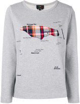 A.P.C. map appliqué sweatshirt - women - Cotton - XS