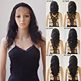 10''-22'' Glueless Virgin Brazilian Human Hair Lace Front Wig Grade 6A Deep Invisible Lace Wig Natural Hairline With Baby Hair Body Wave +Stretchable Elastic Wig Net (14'' / 14 inch,#1B Natural Black)