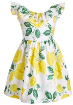 Bonnie Jean Toddler Girls Ruffled Lemon Dress