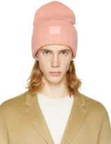 Acne Studios Pink Pansy L Face Beanie