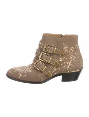 Chloé Susanna Studded Boots gold