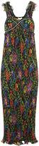 3.1 Phillip Lim Multi Floral Strap Pleated Maxi Dress
