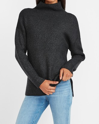 Express Side Slit Mock Neck Sweater