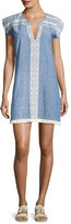 Soft Joie Natali Embroidered Mini Dress, Blue