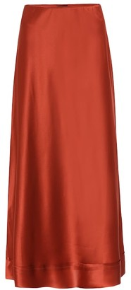 Lee Mathews Silk-satin skirt