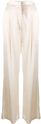 Le Kasha Wide-Leg Flared Trousers