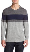 Izod Men's Fine Gauge Stripe Crew Sweater