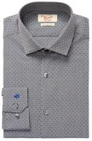Original Penguin Embroidered Pattern Cotton Slim Fit Dress Shirt