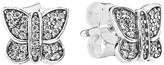Pandora Earrings - Sterling Silver & Cubic Zirconia Sparkling Butterfly Studs