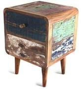 Reclaimed teakwood side table, 'Rusticity'