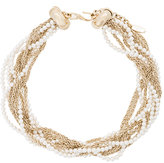 Lanvin curb chain and pearl necklace