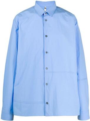 Oamc Seam Detail Cotton Shirt