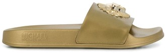 MICHAEL Michael Kors Rory metallic slides