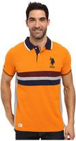 U.S. Polo Assn. Short Sleeve Classic Fit Chest Stripe Pique Polo Shirt