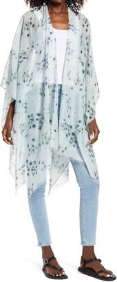 AllSaints Jasmine Cotton & Silk Ruana