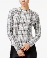 Bar III Plaid Mock-Neck Sweater, Only at Macy's
