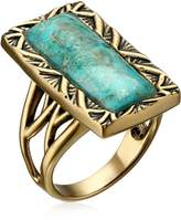"Barse Parallel"" Bronze and Genuine Turquoise Ring Size 8"