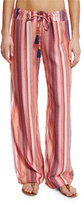 Pilyq Angelica Striped Lounge Pants, Rose