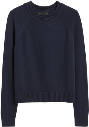 Banana Republic Cotton-Blend Cropped Sweater