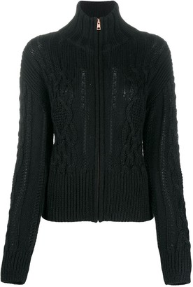 See by Chloe Cable Knit Zipped Jumper