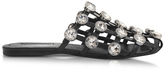 Alexander Wang Jeweled Amelia Leather Flat Sandals