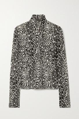 Commission Leopard-print Stretch-jersey Turtleneck Top - Ivory