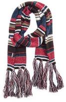 Muk Luks Women's MUK LUK Knit Stripe Scarf with Fringe