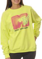 Asstd National Brand MTV Juniors' Graffiti Logo Neon Crewneck Graphic Sweatshirt