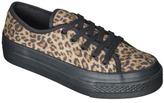 Lavera Women's Xhilaration Flatform Canvas Sneaker - Leopard Print