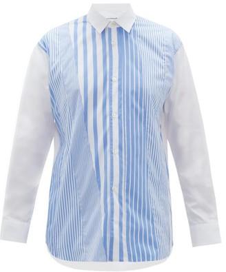 Comme des Garcons Striped Cotton-poplin Shirt - Mens - Blue White